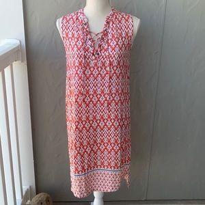 Beachlunchlounge Sleeveless Dress Coral White S